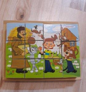 Кубики с героями из Простоквашино