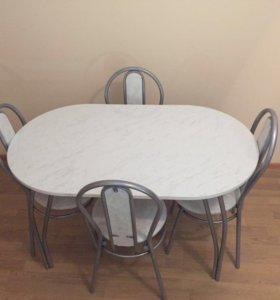 Обеденный комплект стол(пластик)