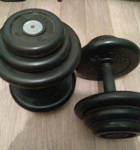 Гантели barbell 18,5 кг