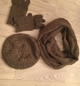 Комплект: шапка, шарф, перчатки