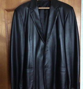 Кожаный пиджак Jil Sander