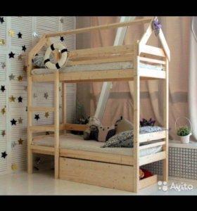 Одноярусные и двухъярусные кровати