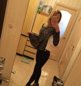 Кружевная блуза женская блузка с баской