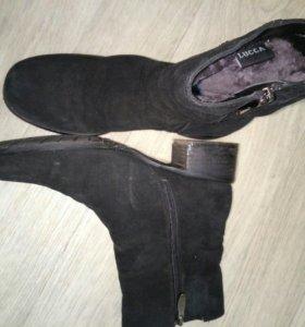 Ботинки натуральная кожа замша мех зимние