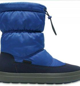 Женские сапоги Crocs LodgePoint Shiny Pull-on Boot
