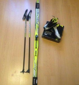 Лыжи , Палки, ботинки Fischer