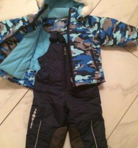 Куртка и полукомбинезон на мальчика (новый) 80р