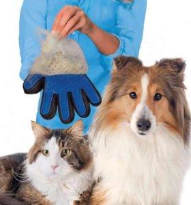 перчатка расческа для собак и кошек