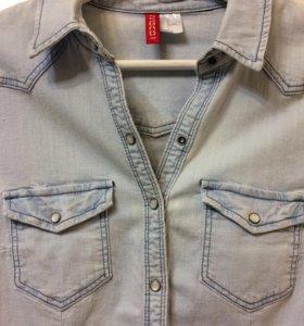 Джинсовая рубашка H&M новая