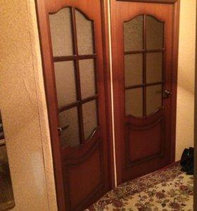Межкомнатные деревянные двери с матовым стеклом