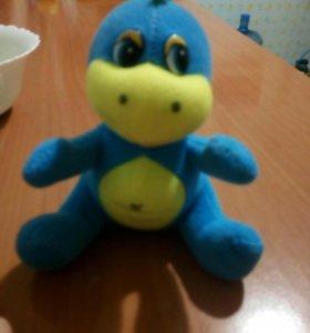 Динозаврик и кошечка мягкие игрушки