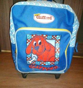 Детская сумка-рюкзак на колёсиках