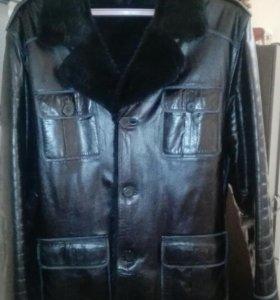 Мужская кожаная куртка р.54-56