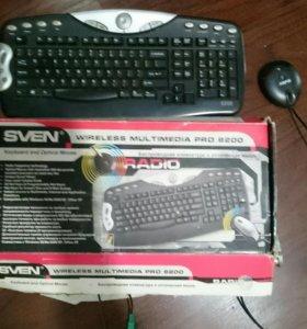 Беспроводная клавиатура и мышка для компьютера