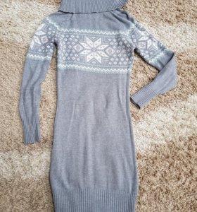 Платье-свитер вязаные