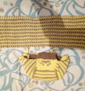 Шапочка и шарфик для малыша