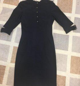 Платье синее р.42
