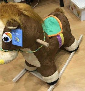 Новый конь качалка