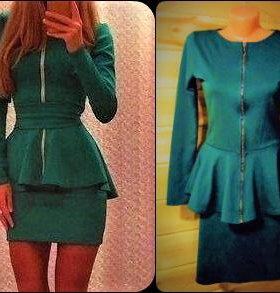костюм с баской (кофта + юбка)