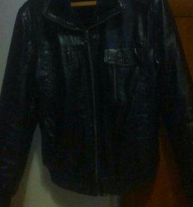 Куртка кожаная,зимняя...