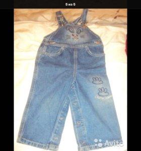 Комбинезон джинсовый для мальчика 1-2 года