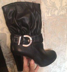 Обувь, Сапоги женские чёрные осень весна