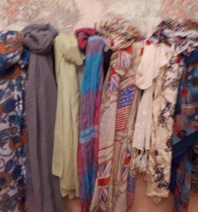 Шарфы-палантины, платки