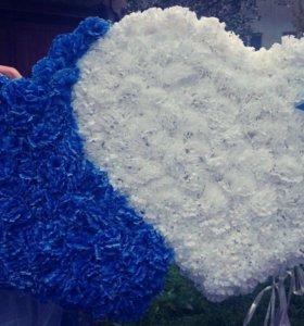 Два сердца на главную свадебную машину