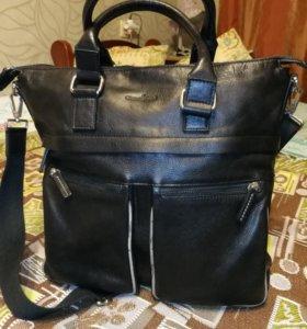 Мужская бизнес-сумка Gianni Conti черная