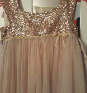 Платье для девочки Monsoon,было куплено за 4500.