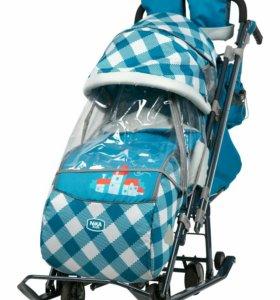 Санки-коляска 7-4 с большими колесам