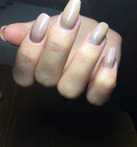 Покрытие ногтей гель лаком ,маникюр,педикюр