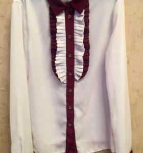 Школьная форма. Блузка на девочку.