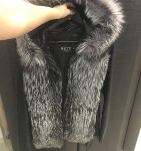 Куртка-жилетка с чернобуркой