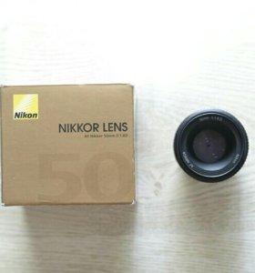 Nikon 50mm f/1.8D AF Nikkor полтинник
