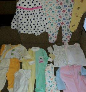 Пакет одежды на девочку 3-7м