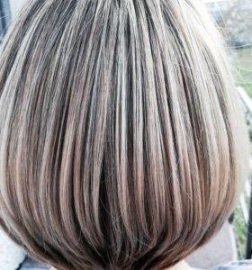 Окрашивание волос, шатуш, американский блонд.