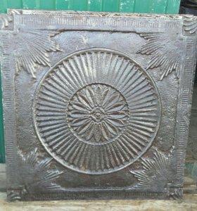 Плиты чугунные старинные