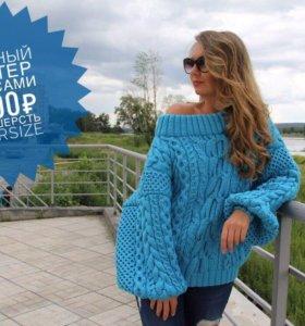 Вязаные пуловеры, свитеры, кардиган