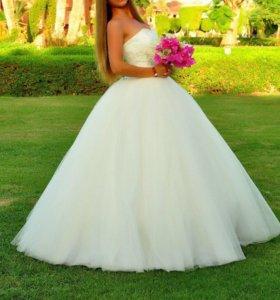 Свадебное платье +аксессуары