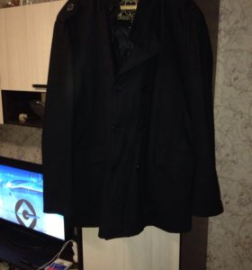 Пальто мужское черное
