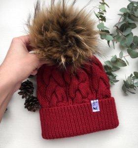 Вязанная шапка на заказ