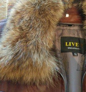 Новая кожаная мужская куртка зима