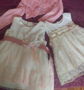 Платья для девочек 1-2 года