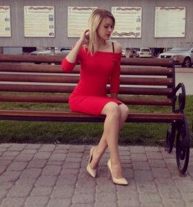 Платье лайм