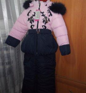 Новый зимний костюм на девочку.