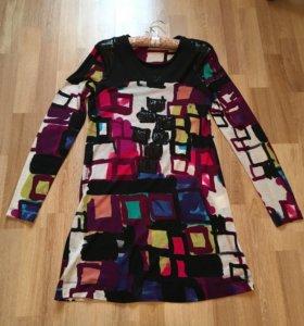 Новое платье Италия 100% шерсть