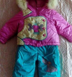 детский зимний комбинезон - трансформер