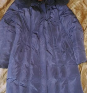 Зимнее пальто-пуховик 56 размера