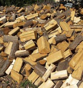 дрова из акации колотые